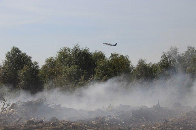 Пожежа на сміттєзвалищі: гасіння та наслідки (фото, відео)