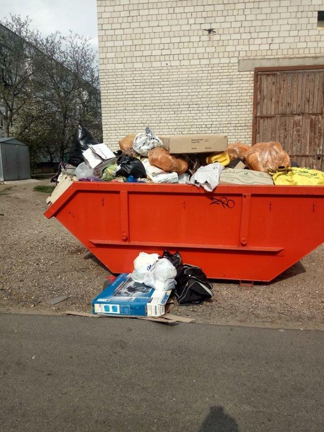 Микола Ламаш про нові  контейнери  для збору великогабаритного сміття в Борисполі