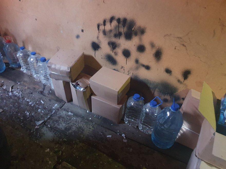 У Борисполі виявили цех із виготовлення алкогольного фальсифікату