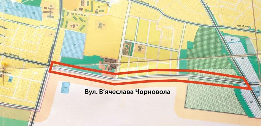 Де у Борисполі вулиця Чорновола?