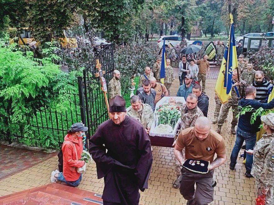 Бориспіль провів в останній шлях загиблого на Донбасі героя